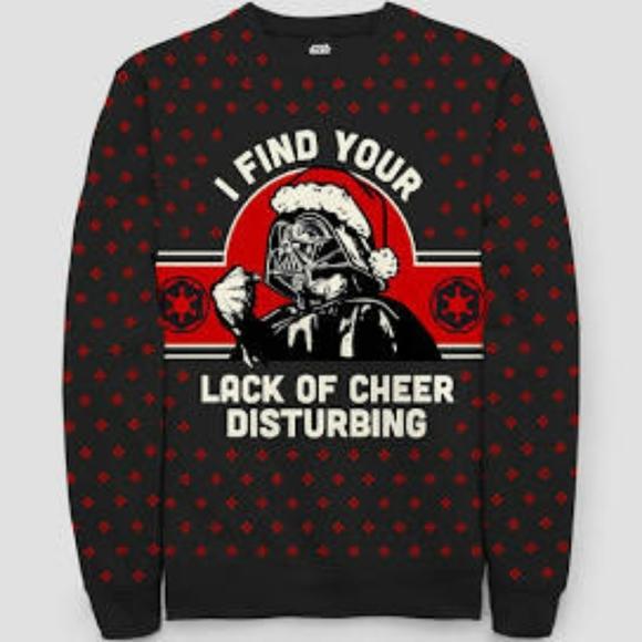 NWOT Star War Darth Vader Holiday Cheer Sweatshirt